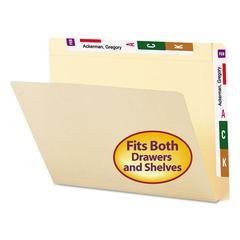 Smead Conversion File Folders, Straight Cut Top Tab, Letter, Manila, 100/Box