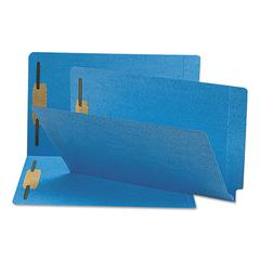 Two-Inch Capacity Fastener Folders, Straight Tab, Legal, Blue, 50/Box