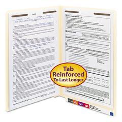 Smead Manila Folders, Two Fasteners, End Tab, Legal, 11pt Manila, 50/Box