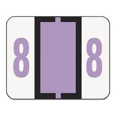 Smead Single Digit End Tab Labels, Number 8, Lavender, 500/Roll