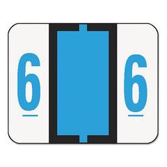Smead Single Digit End Tab Labels, Number 6, Blue, 500/Roll