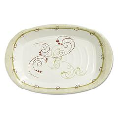 Clay-Coated Paper Plate, 8 x 6, Symphony Design, Mediumweight, 125/PK, 8 PK/CT