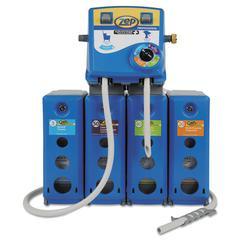 Zep Professional Advantage+ 4/1 Wall Mount Dispensing System, Blue,Plastic/Metal,19.5x6.75x29