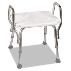 "Shower Chair, 16-20""H, 19 x 13 Seat, 350 lb Capacity"