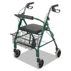 Ultra Lightweight Rollator, Green, Aluminum, Adjustable