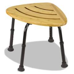 "Bamboo Bath Seat, Woodgrain, 16"" x 22 x 13 1/2-18 1/2"