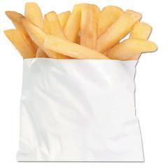 "French Fry Bags, 4 1/2"" x 4 1/2"", White, 2000/Carton"