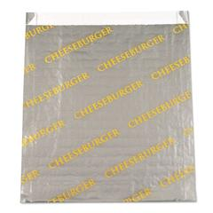 """Foil/Paper/Honeycomb Insulated Bag """"Cheeseburger"""", 6x6 1/2, Gray/Yellow, 1000/CT"""