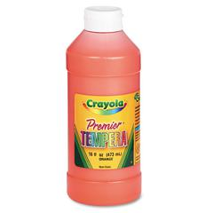 Premier Tempera Paint, Orange, 16 oz
