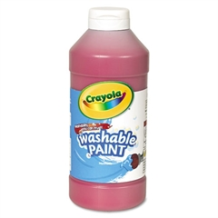 Washable Paint, Red, 16 oz