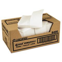 Chix Worxwell General Purpose Towels, 13 x 15, White, 100/Carton