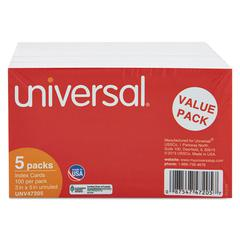Unruled Index Cards, 3 x 5, White, 500/Pack