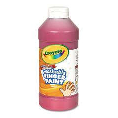 Crayola Washable Fingerpaint, Red, 16 oz