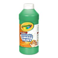 Crayola Washable Fingerpaint, Green, 16 oz