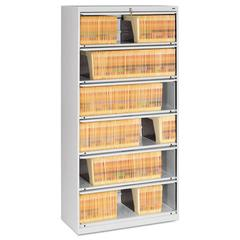 Closed Fixed Shelf Lateral File, 36w x 16 1/2d x 75 1/4, Light Gray
