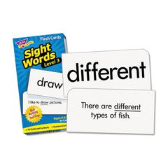 TREND Skill Drill Flash Cards, 3 x 6, Sight Words Set 3