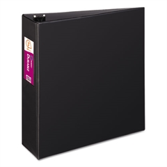 "Avery Durable Binder with Slant Rings, 11 x 8 1/2, 3"", Black"