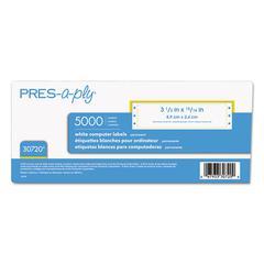 Dot Matrix Printer White Address Labels, 15/16 x 3 1/2, White, 5000/Box