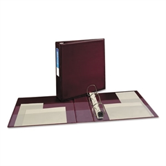 """Avery Heavy-Duty Binder with One Touch EZD Rings, 11 x 8 1/2, 2"""" Capacity, Maroon"""