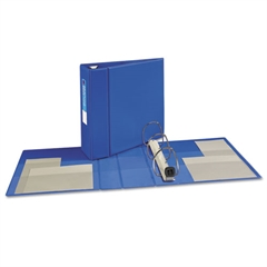 "Avery Heavy-Duty Binder with One Touch EZD Rings, 11 x 8 1/2, 4"" Capacity, Blue"