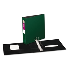 """Avery Durable Binder with Slant Rings, 11 x 8 1/2, 2"""", Green"""