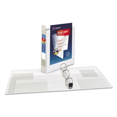 "Avery Heavy-Duty View Binder w/Locking 1-Touch EZD Rings, 1 1/2"" Cap, White"