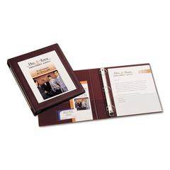 "Framed View Heavy-Duty Binder w/Locking 1-Touch EZD Rings, 1"" Cap, Maroon"