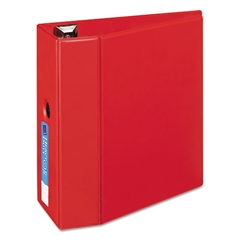 "Avery Heavy-Duty Binder with One Touch EZD Rings, 11 x 8 1/2, 5"" Capacity, Red"