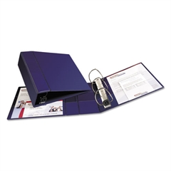 """Avery Heavy-Duty Binder with One Touch EZD Rings, 11 x 8 1/2, 4"""" Capacity, Navy Blue"""