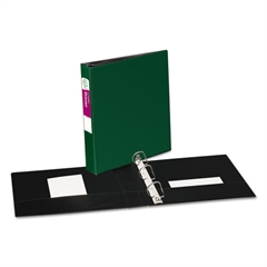 """Avery Durable Binder with Slant Rings, 11 x 8 1/2, 1 1/2"""", Green"""