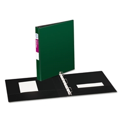 """Avery Durable Binder with Slant Rings, 11 x 8 1/2, 1"""", Green"""