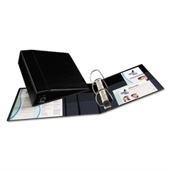 """Avery Heavy-Duty Binder with One Touch EZD Rings, 11 x 8 1/2, 4"""" Capacity, Black"""