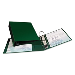 "Avery Heavy-Duty Binder with One Touch EZD Rings, 11 x 8 1/2, 3"" Capacity, Green"