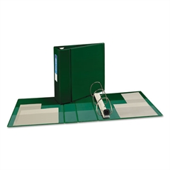 """Avery Heavy-Duty Binder with One Touch EZD Rings, 11 x 8 1/2, 4"""" Capacity, Green"""
