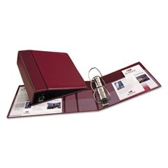 """Avery Heavy-Duty Binder with One Touch EZD Rings, 11 x 8 1/2, 4"""" Capacity, Maroon"""