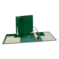 """Avery Heavy-Duty Binder with One Touch EZD Rings, 11 x 8 1/2, 5"""" Capacity, Green"""