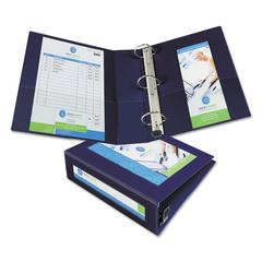 "Avery Framed View Heavy-Duty Binder w/Locking 1-Touch EZD Rings, 3"" Cap, Navy Blue"