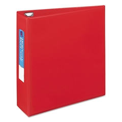 """Avery Heavy-Duty Binder with One Touch EZD Rings, 11 x 8 1/2, 3"""" Capacity, Red"""
