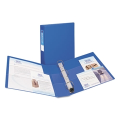 """Avery Heavy-Duty Binder with One Touch EZD Rings, 11 x 8 1/2, 1 1/2"""" Capacity, Blue"""
