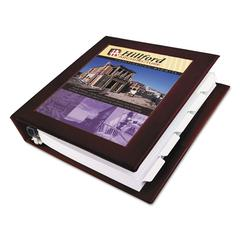 "Framed View Heavy-Duty Binder w/Locking 1-Touch EZD Rings, 1 1/2"" Cap, Maroon"