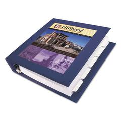 "Avery Framed View Heavy-Duty Binder w/Locking 1-Touch EZD Rings, 1 1/2"" Cap, Navy Blue"
