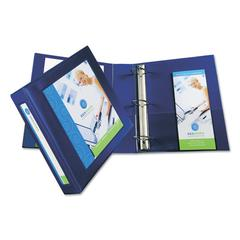 "Framed View Heavy-Duty Binder w/Locking 1-Touch EZD Rings, 2"" Cap, Navy Blue"