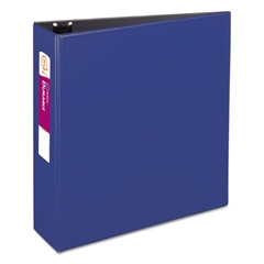 """Avery Durable Binder with Slant Rings, 11 x 8 1/2, 3"""", Blue"""