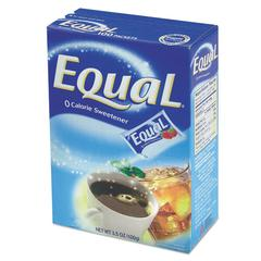 Equal Zero Calorie Sweetener, 1 g Packet, 115/Box, 12 Box/Carton