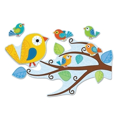 Boho Birds Bulletin Board Set, 81 Pieces/Kit