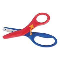 "Fiskars Preschool Training Scissors, 5""L, 1 1/2"" Cut, Plastic, Red/Blue"