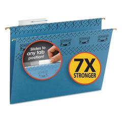 Smead Tuff Hanging Folder with Easy Slide Tab, Letter, Blue, 18/Pack