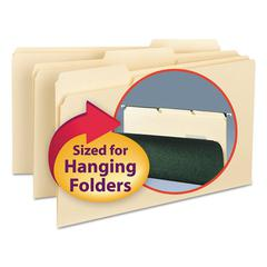 Interior File Folders, 1/3 Cut Top Tab, Legal, Manila, 100/Box