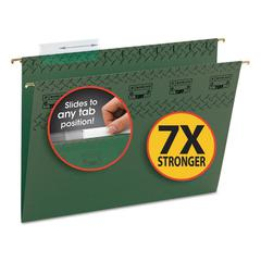Tuff Hanging Folder with Easy Slide Tab, Letter, Standard Green, 20/Pack