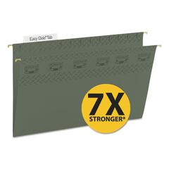 Tuff Hanging Folder with Easy Slide Tab, Legal, Standard Green, 20/Pack